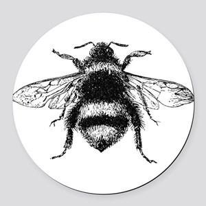 Vintage Honey Bee Round Car Magnet
