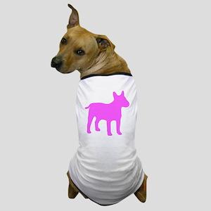 Pink Bull Terrier Silhouette Dog T-Shirt