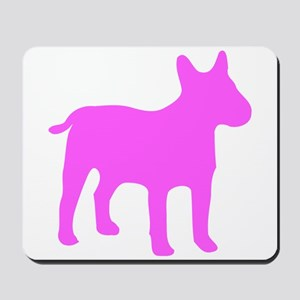Pink Bull Terrier Silhouette Mousepad