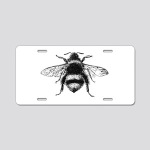 Vintage Honey Bee Aluminum License Plate