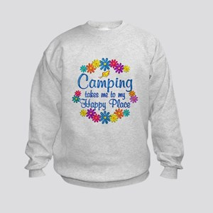 Camping Happy Place Kids Sweatshirt
