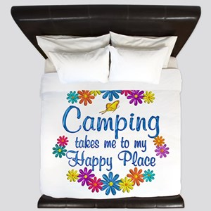 Camping Happy Place King Duvet