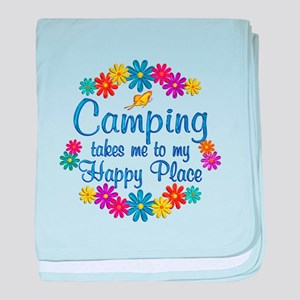 Camping Happy Place baby blanket