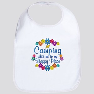 Camping Happy Place Bib