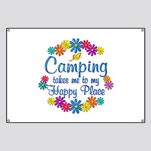 Camping Happy Place Banner
