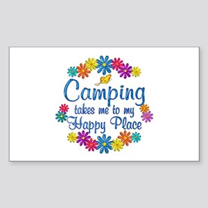 Camping Happy Place Sticker (Rectangle)