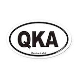 Keuka lake Oval Car Magnets