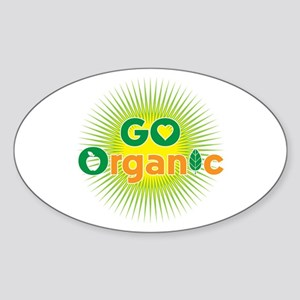 Go Organic Sticker (Oval)