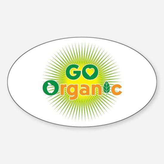Go Organic Sticker (Oval)