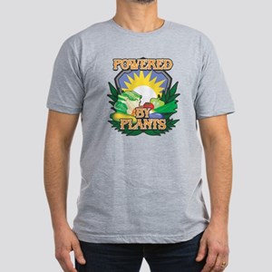 Powered by Plants Men's Fitted T-Shirt (dark)