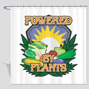 Powered by Plants Shower Curtain