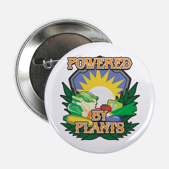 """Powered by Plants 2.25"""" Button"""