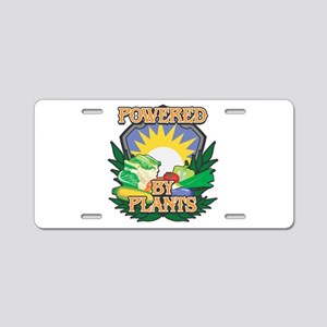 Powered by Plants Aluminum License Plate