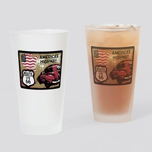 Route US 66 Drinking Glass