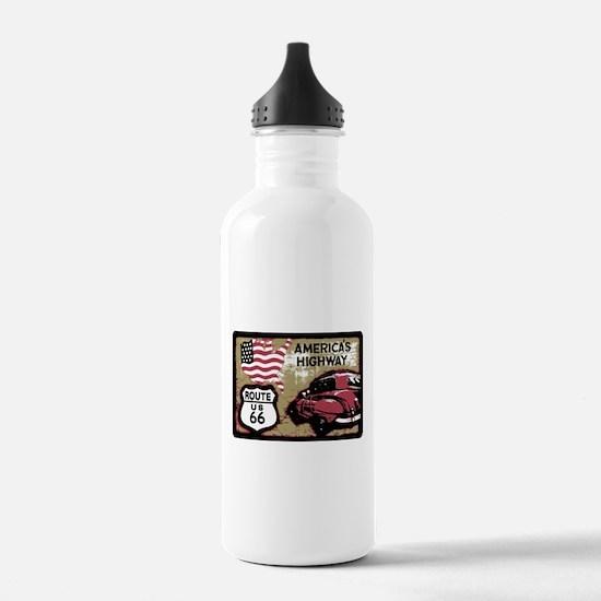 Route US 66 Water Bottle