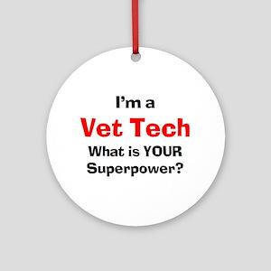 vet tech Ornament (Round)