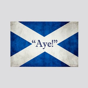 Aye, Scotland! Rectangle Magnet Magnets