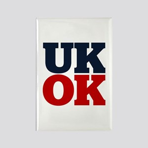 UK? OK!! Rectangle Magnet