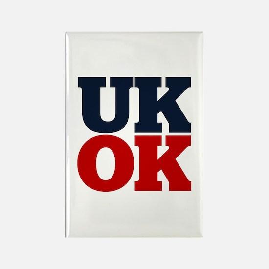 UK? OK!! Rectangle Magnet