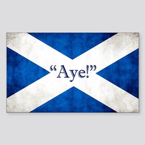 Aye, Scotland! Sticker (rectangle)