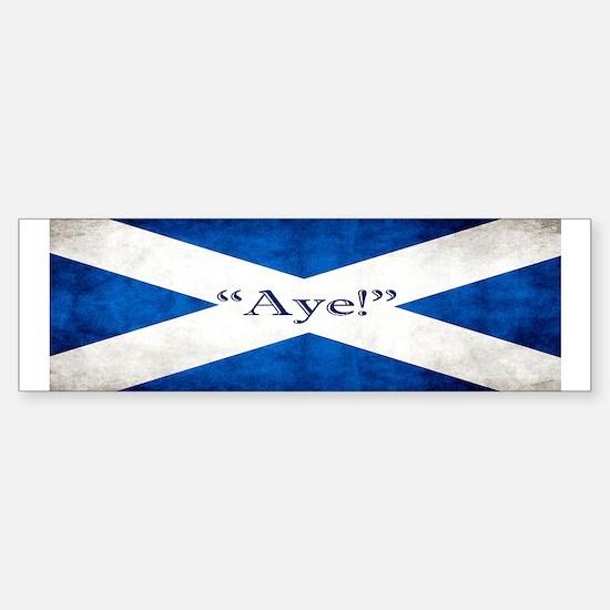 Aye, Scotland! Sticker (Bumper)