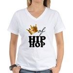 King/Queen of Hiphop Women's V-Neck T-Shirt