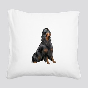 Gordon Setter Square Canvas Pillow