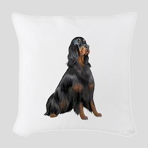 Gordon Setter Woven Throw Pillow