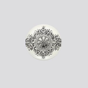 Vintage Rosette Mini Button