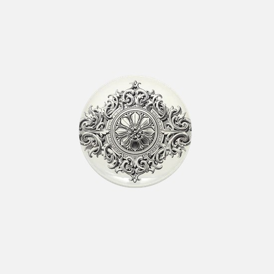 Vintage Rosette Mini Button