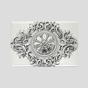 Vintage Rosette Magnets