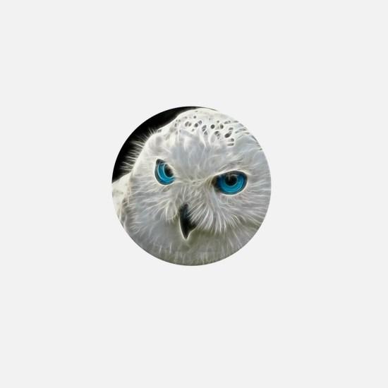 White Owl Mini Button