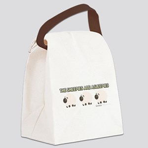 The Sheepies Are Asleepies Canvas Lunch Bag