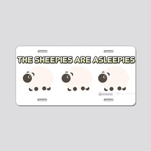 The Sheepies Are Asleepies Aluminum License Plate