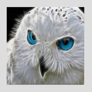 White Owl Tile Coaster