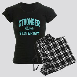 Stronger Than Yesterday Women's Dark Pajamas