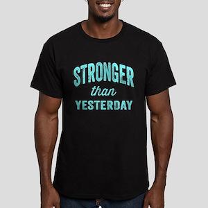 Stronger Than Yesterda Men's Fitted T-Shirt (dark)