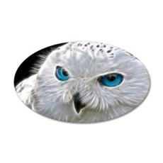 White Owl Wall Decal