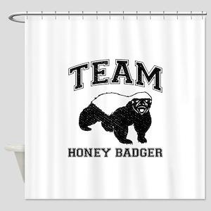 Team Honey Badger Shower Curtain