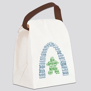 Geekway 2012 Wordle Canvas Lunch Bag