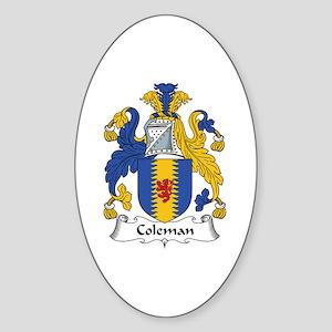 Coleman Oval Sticker