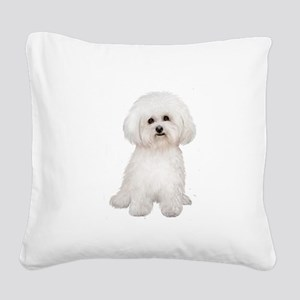Bichon Frise #2 Square Canvas Pillow