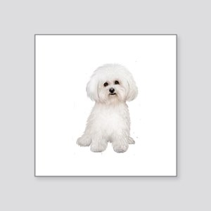 "Bichon Frise #2 Square Sticker 3"" x 3"""