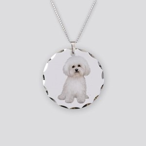Bichon Frise #2 Necklace Circle Charm