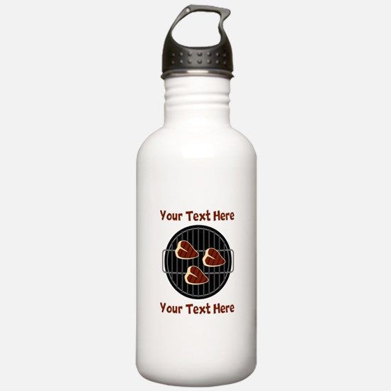 CUSTOM TEXT Meat On BB Water Bottle