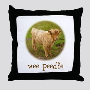 Wee Peedie Throw Pillow