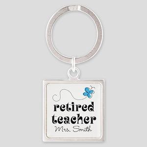 Retired Teacher personalized Keychains