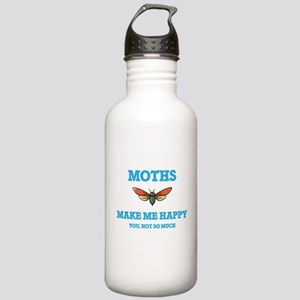 Moths Make Me Happy Stainless Water Bottle 1.0L