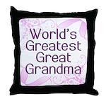 World's Greatest Great Grandma Throw Pillow