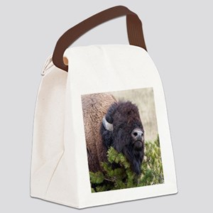 Christmas Bison Canvas Lunch Bag